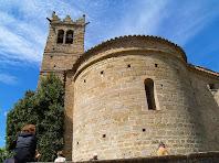 L'absis i el campanar de l'església de Sant Andreu de Gurb