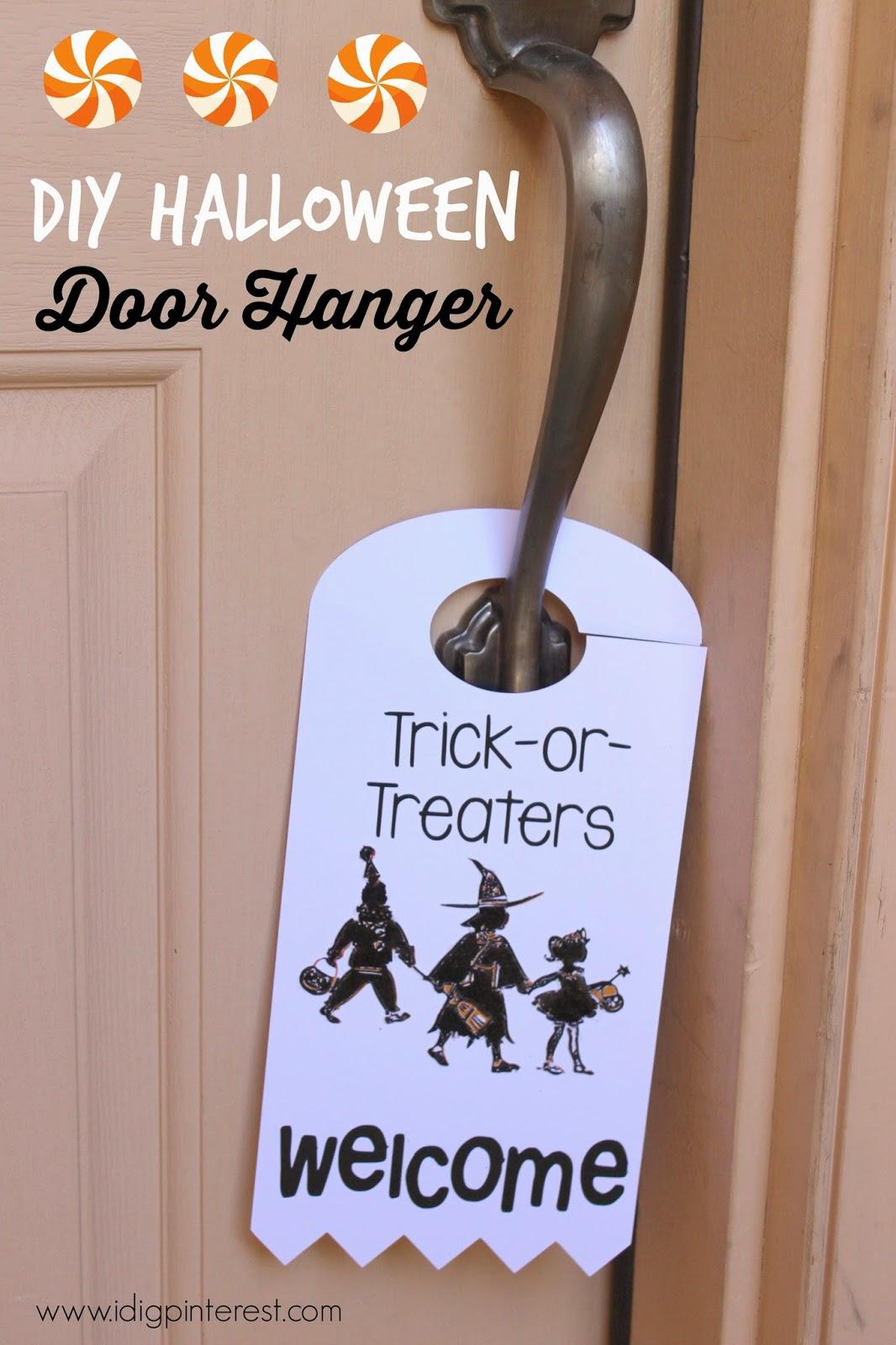 Decorating Ideas > TrickorTreaters Welcome Halloween Door Hanger With  ~ 114701_Halloween Door Hangers Printable