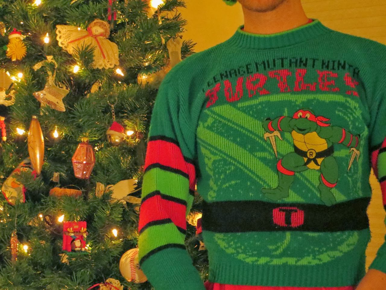 The Sewer Den: 24 Days of Turtle: Day 4 (Ugly Christmas Sweater)