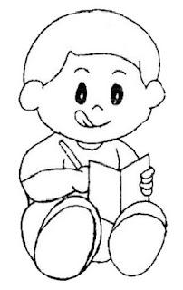 desenhos de crianças lendo livros para colorir desenhos para colorir