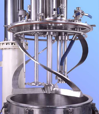 Trial Run of LH-100 tilting vacuum emulsifying equipment with top Homogenizer