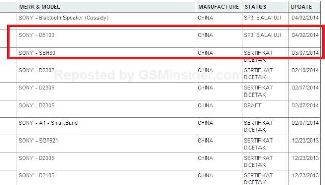 Sony D5103 POSTEL