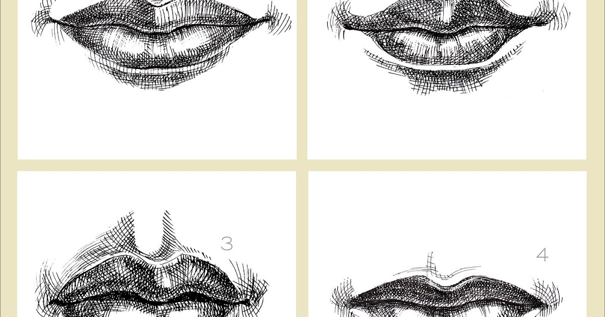 how to draw a realistic closed lip smile