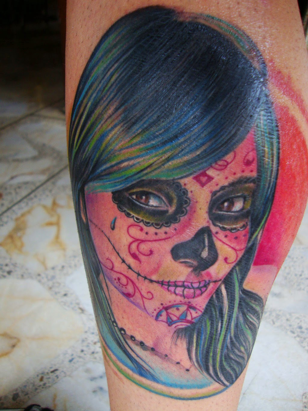 Gorgeous Catrina Tattoos Design Idea