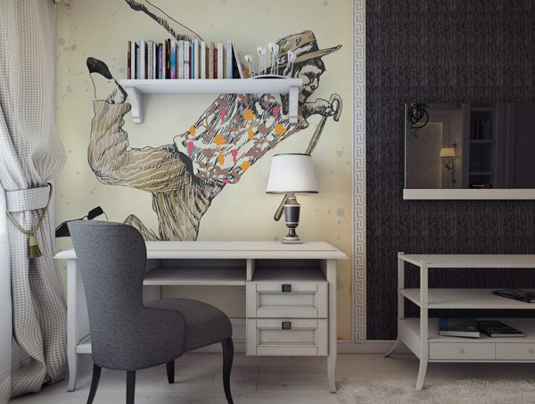 Pixers wall stickers inspired by Henri Toulouse-Lautrec (via Nest of Pearls)