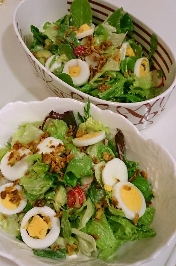 近藤シェフ 港区(白金高輪)に出張料理:お仲間へ感謝の気持ちをパーティーで 季節のサラダ ラディッシュ たまご