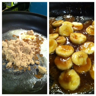 Making bananas foster