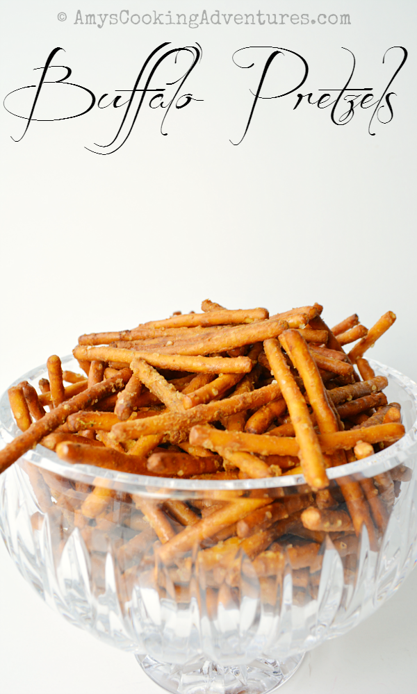 Most Popular | Buffalo Pretzels from Amy's Cooking Adventures #SecretRecipeClub #recipe #pretzels #snack #buffalo