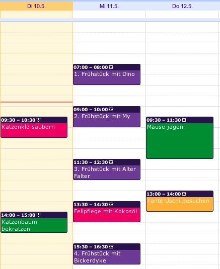 Beispiel Farben im Google Kalender festlegen