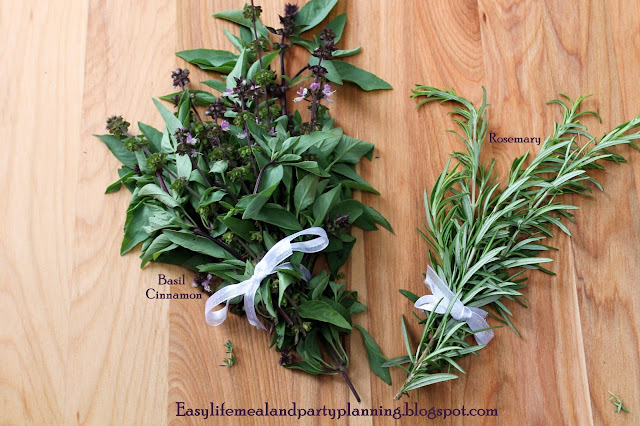 Herb & Vegetable Harvest by Easy Life Meal & Party Planning - Basil Cinnamon & Rosemary