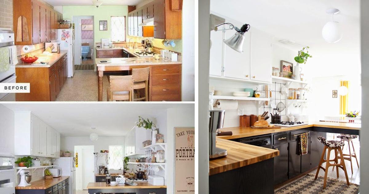 Decoración fácil: antes y despues de una cocina sin obras