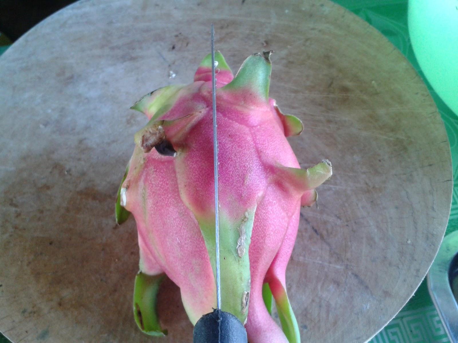 Cut A Half Dragon Fruit