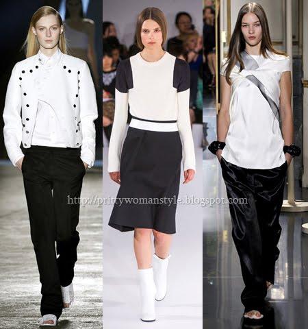 ежедневни дрехи спортен стил в черно и бяло