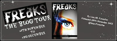 Freaks Lisa M Forester blog tour banner