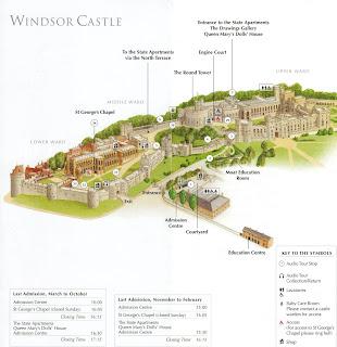 folheto do Castelo de Windsor