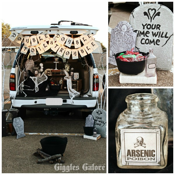 Double Double Toil And Trouble Trunk Or Treat Giggles Galore