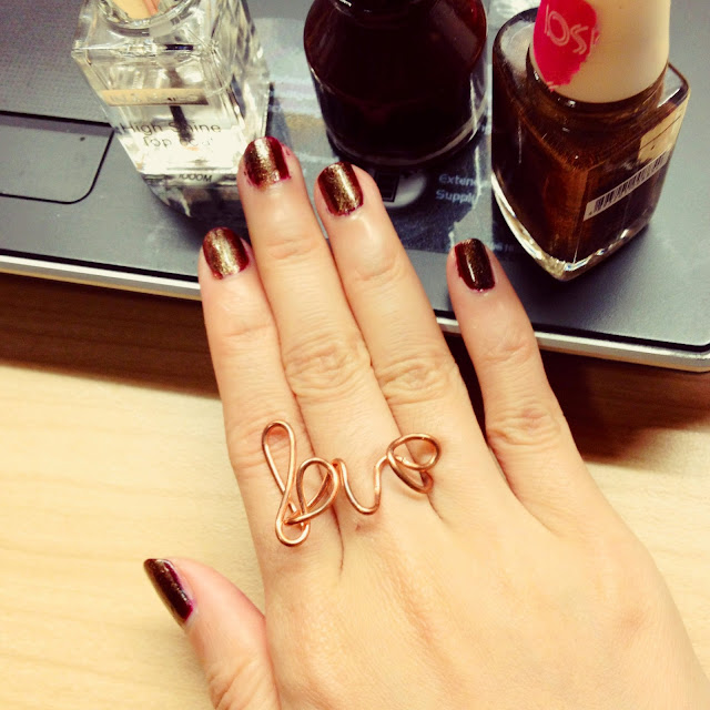 Yi Wei Lim, yiweilim, diy wire ring, diy, diy jewelry, love, love ring, copper, rings