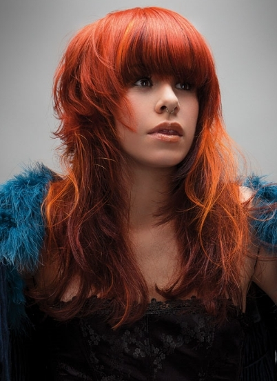 Beautiful Long Hair Vibrant Hair Color Ideas 2012