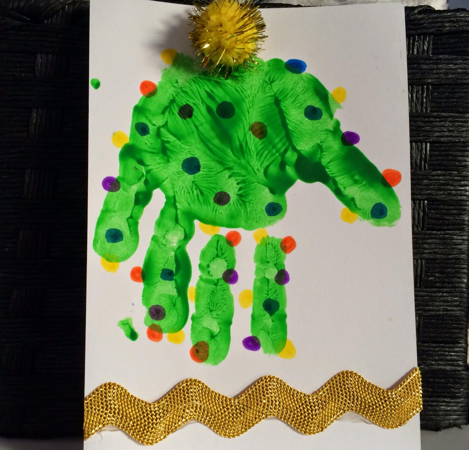 Holiday Handprint & Footprint Crafts : The Chirping Moms