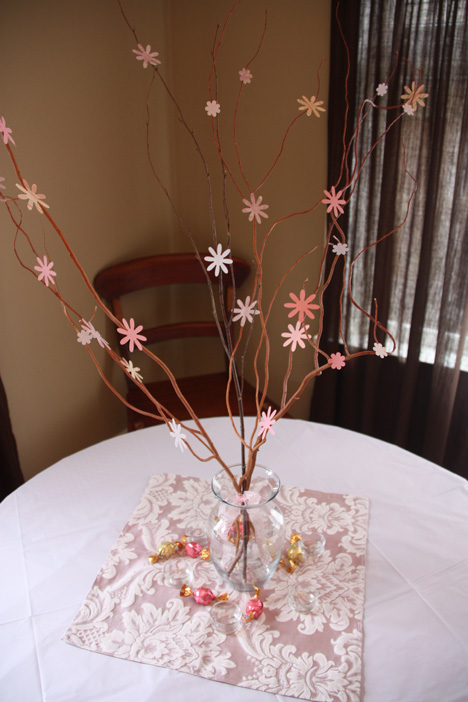 Kelsey John have decided to do a cherry blossom theme for their wedding