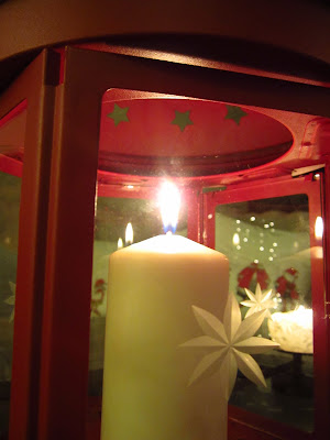 Christmas decoration - Red Lantern from Ikea
