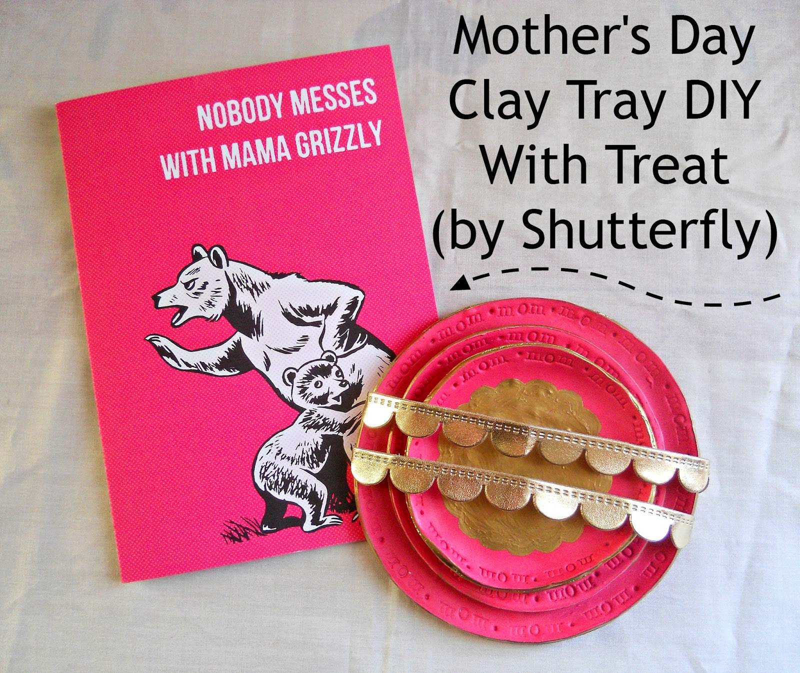 Running With A Glue Gun Mothers Day Clay Tray Diy With Treat