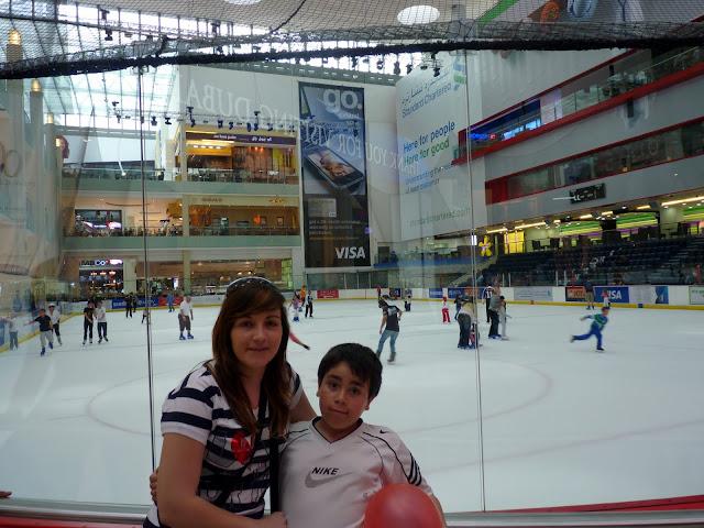Pista de patinaje, Dubai Mall