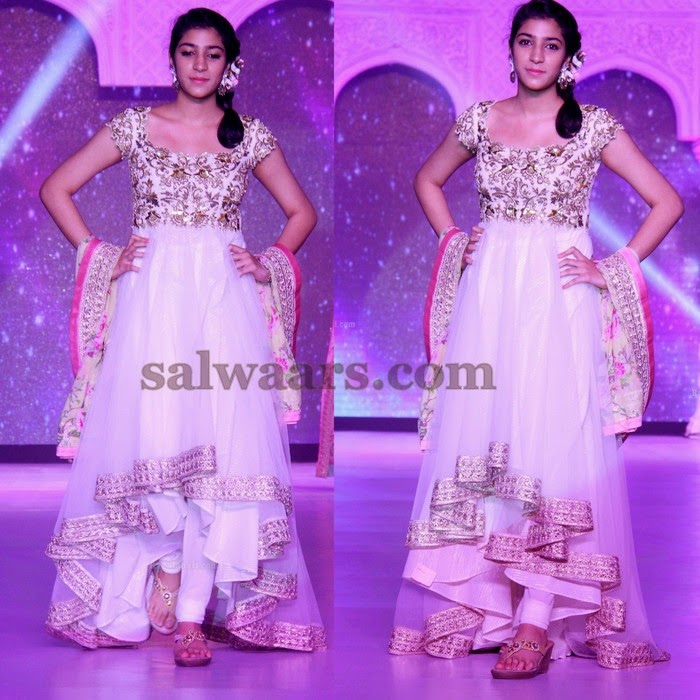 White Netted New Salwar Pattern