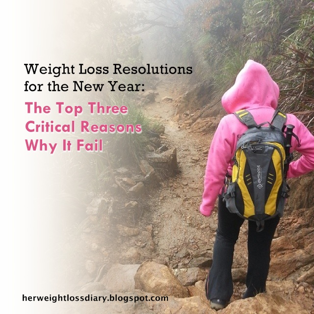 Weight Loss Resolutions for the New Year: The Top Three Critical Reasons Why It Fail