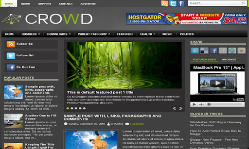 Crowd Blogger Template