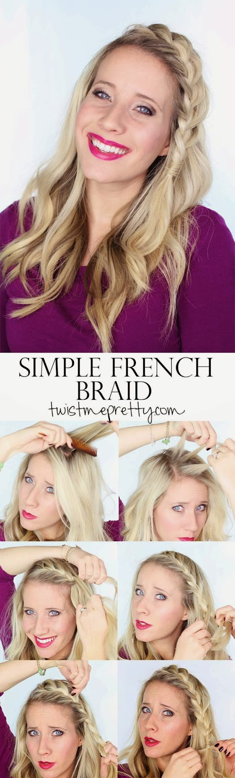 A Simple French Braid Hairstyles