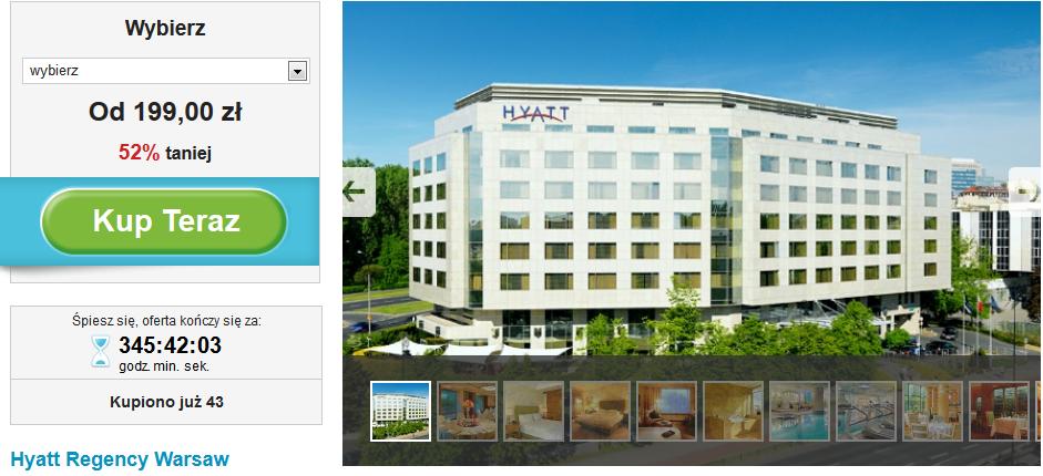 Hyatt Regency Warsaw oferta na Groupon.pl