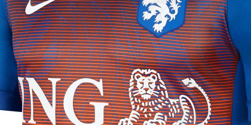 Nueva camiseta pre partido Nike de la Selección de Holanda