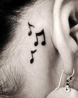 Music Ear Tattoo