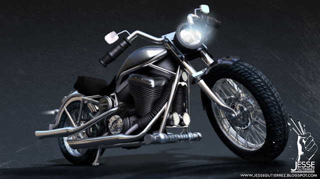 Jesse Gutierrez Art - Motorbike 3D, peru,artista peruano 3d diseño 3d