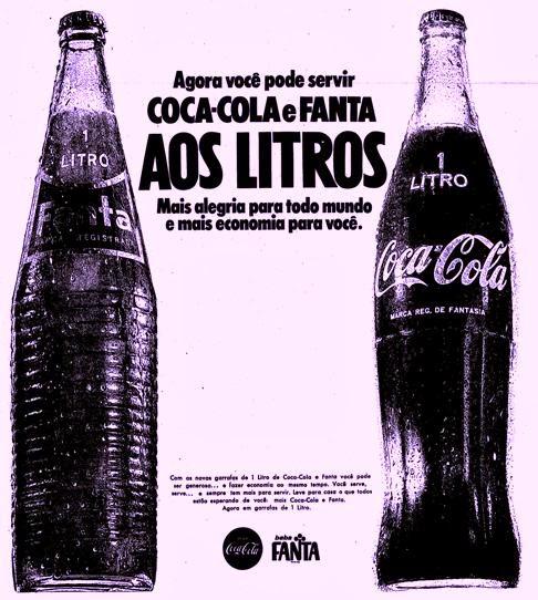 Em 1970, com o aumento do consumo de refrigerantes, surgiu a Coca-Cola e Fanta de 1 Litro.