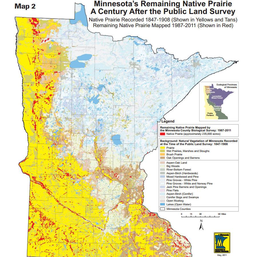 Minnesota Prairie Map Swimnovacom - Map of southern minnesota