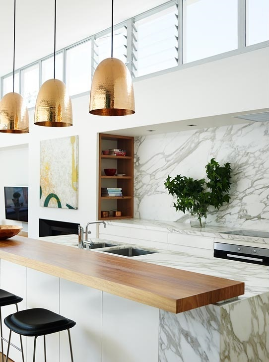 cocina con marmol blanco - Encimera Marmol