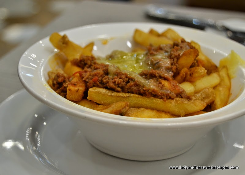 Chili Cheese Fries at Gourmet Burger Kitchen Dubai