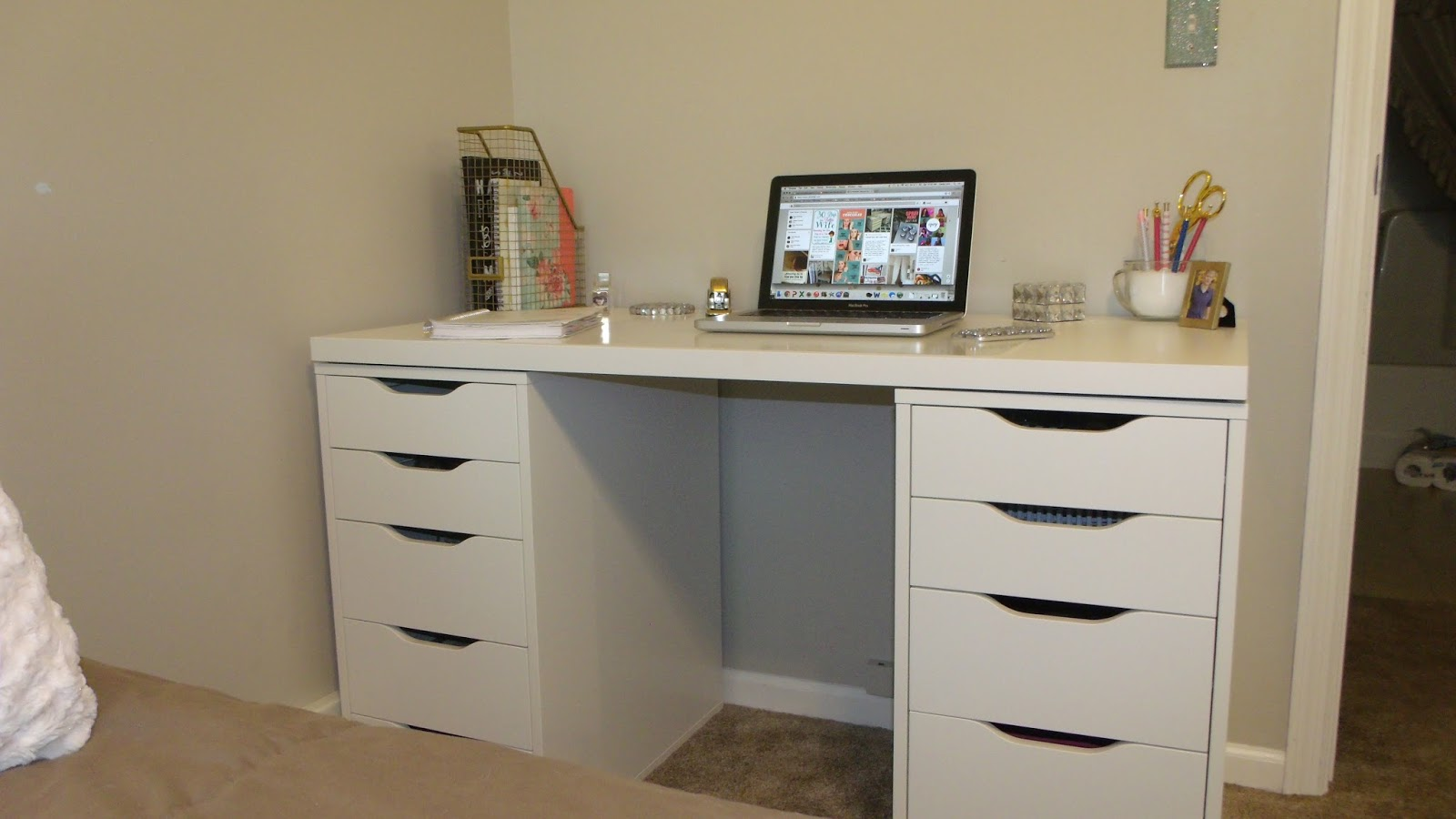 Ikea Linnmon Desk With Alex Drawers Hostgarcia