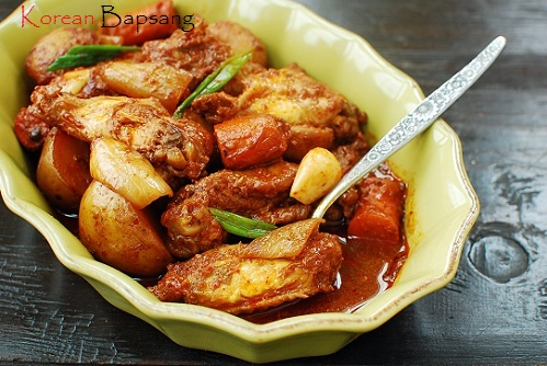 Dakdoritang (Korean Spicy Chicken Stew) - Korean Bapsang