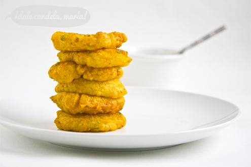 Receta tortillas de bacalao con miel de caña