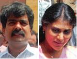 Anil Kumar and his wife Y.S. Sharmila Reddy, daughter of the late chief minister Y.S. Rajasekhar Reddy