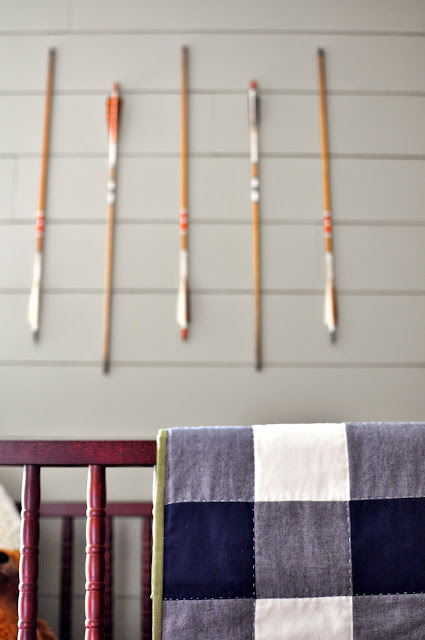 Outdoorsy, camping, boy scout nursery.  Gingham Quilt