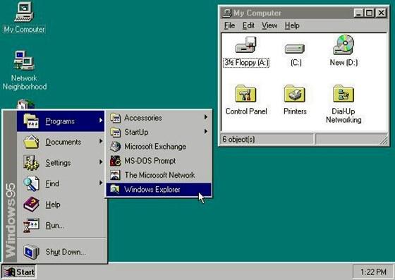 Windows 95 consolidou o domínio da Microsoft no mercado de sistemas para desktop