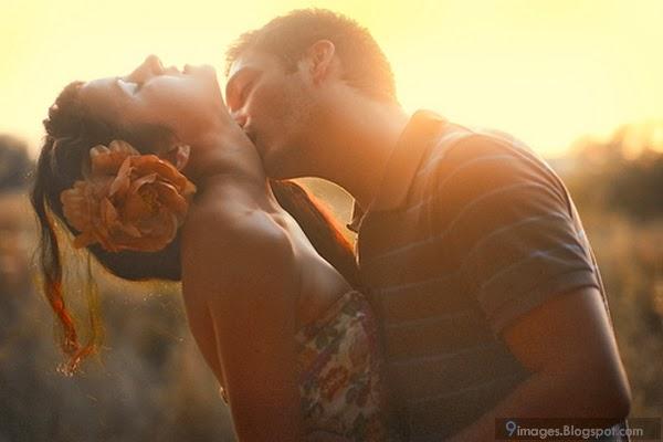 Romantic Kiss On The Neck