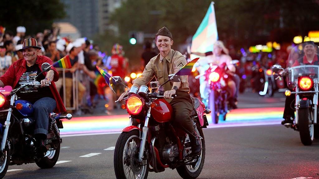 gay mardi gras sydney dykes on bikes 2015 army marine vintage motorcycle motorbike butch lesbian