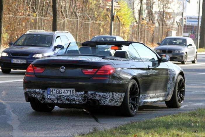 2014 bmw m6 convertible caught paparazzi spy photos garage car. Cars Review. Best American Auto & Cars Review