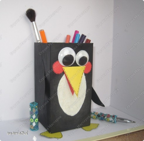 Пингвин из картона