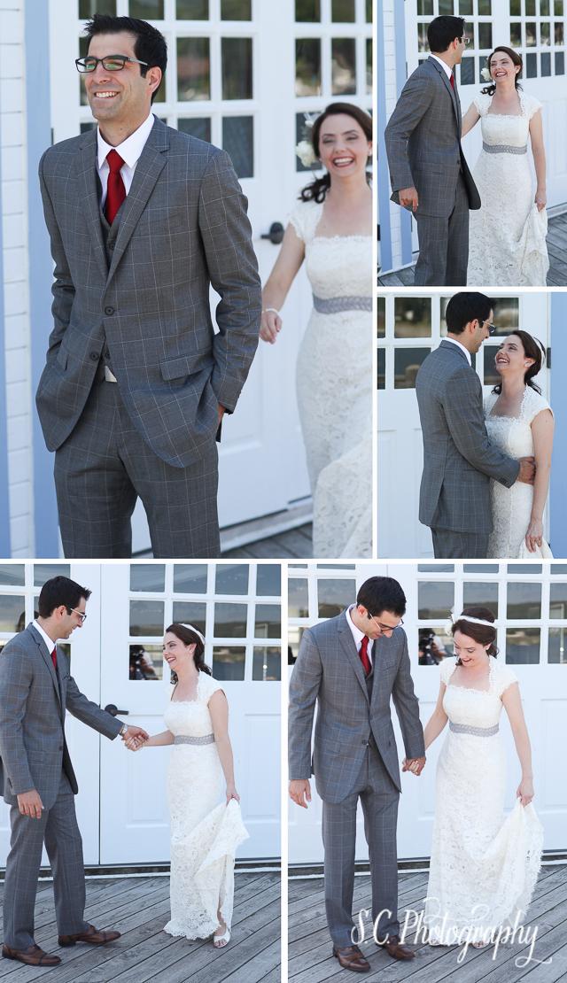 Bride and Groom First Look Session, Elberta, Michigan Wedding